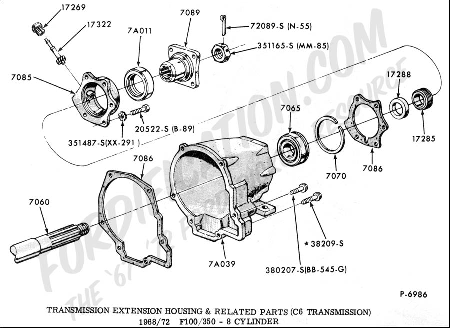 Ford F250 C6 Transmission Diagram