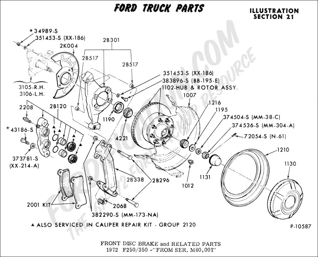 diagram of front end for a 2003 ford f150