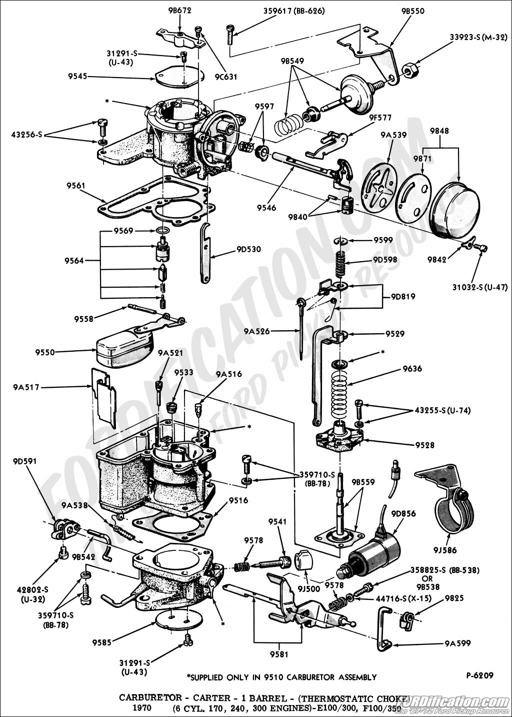ford 300 six cylinder belt diagram