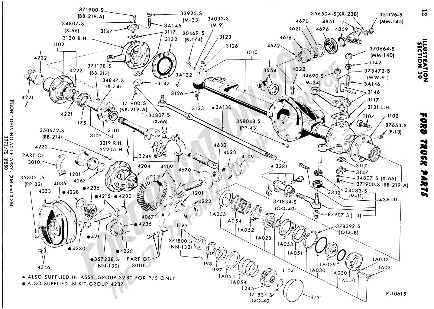 2000 Ford F250 Super Duty 4x4 Front Axle Diagram With Parts on Ford Crown Victoria Front Suspension Diagram