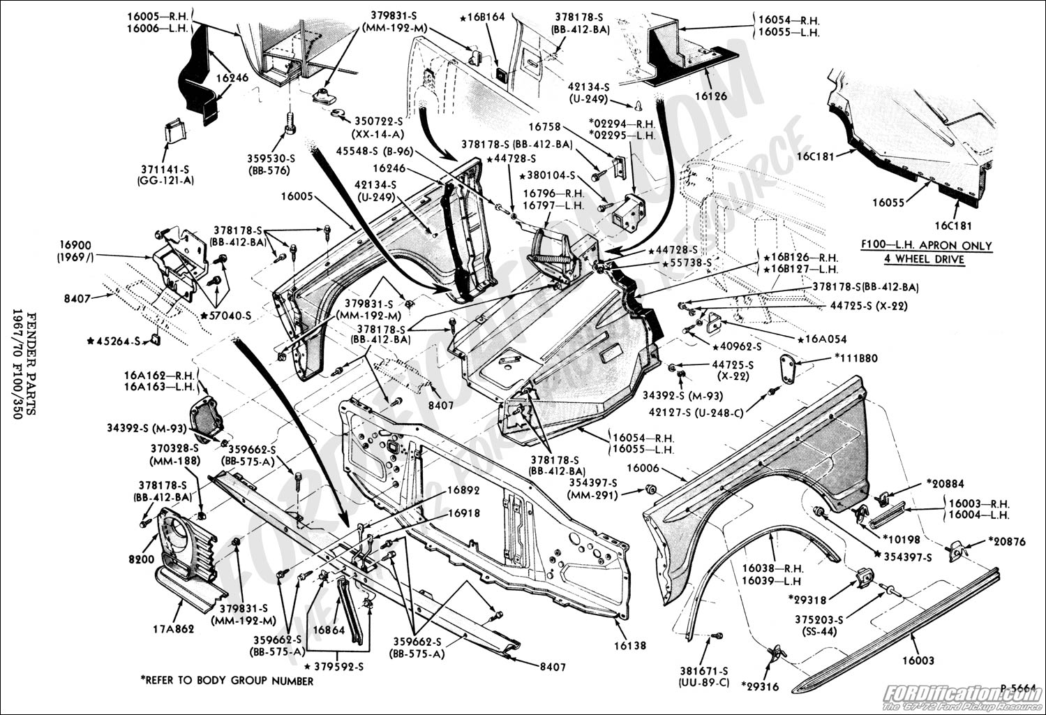 1997 ford f250 body diagrams