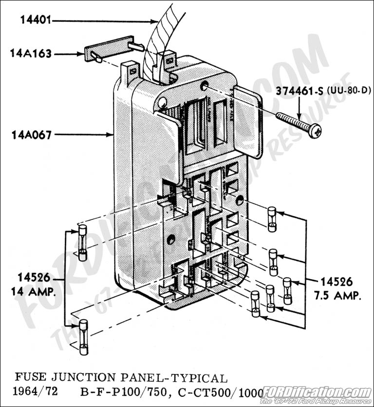 fusepanel 1963 ford galaxie fuse box ford wiring diagrams for diy car repairs 1972 mustang fuse box at alyssarenee.co