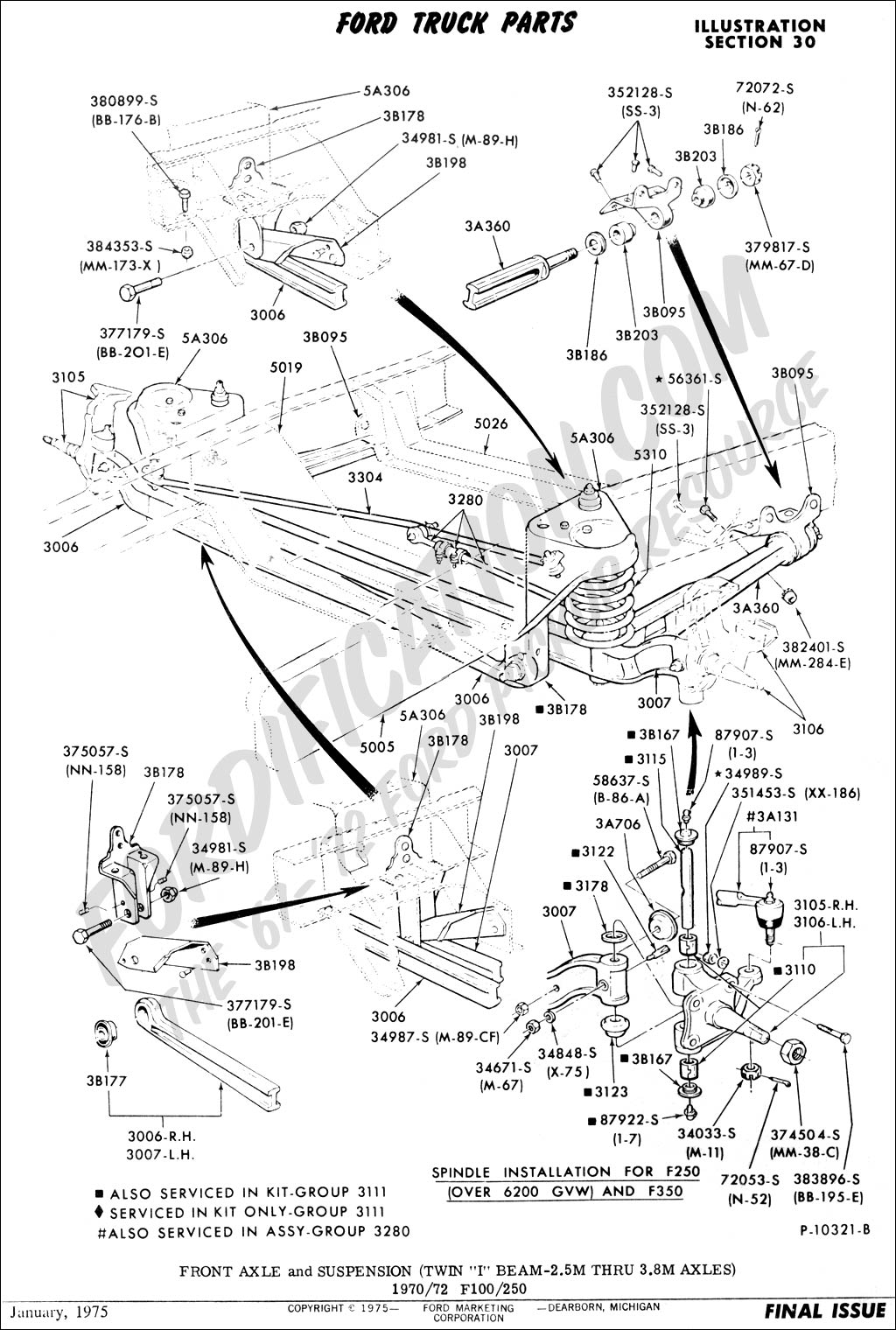 2000 Ford F350 Front Axle Diagram >> Ford Truck Technical Drawings and Schematics - Section A - Front/Rear Axle Assemblies and ...