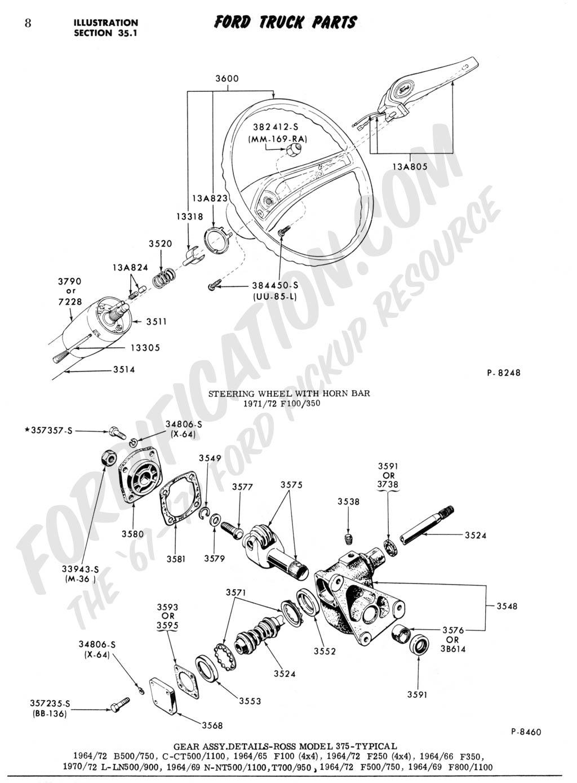 1970 Ford Truck Steering Column
