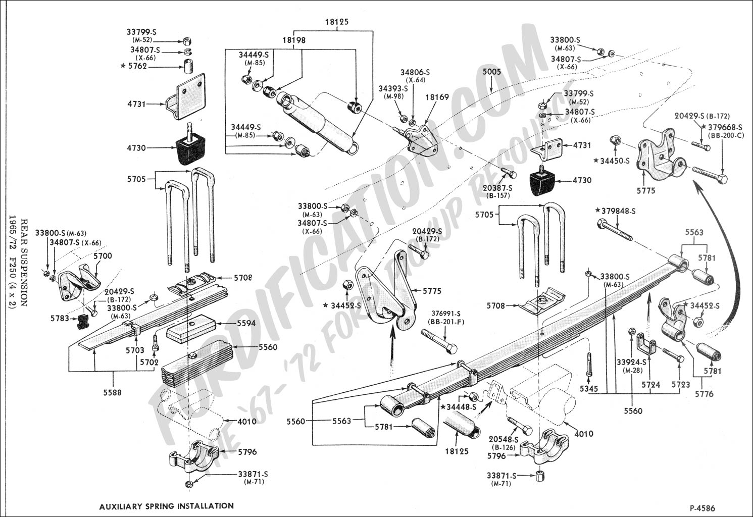 ford truck technical drawings and schematics - section a  rear axle assemblies and