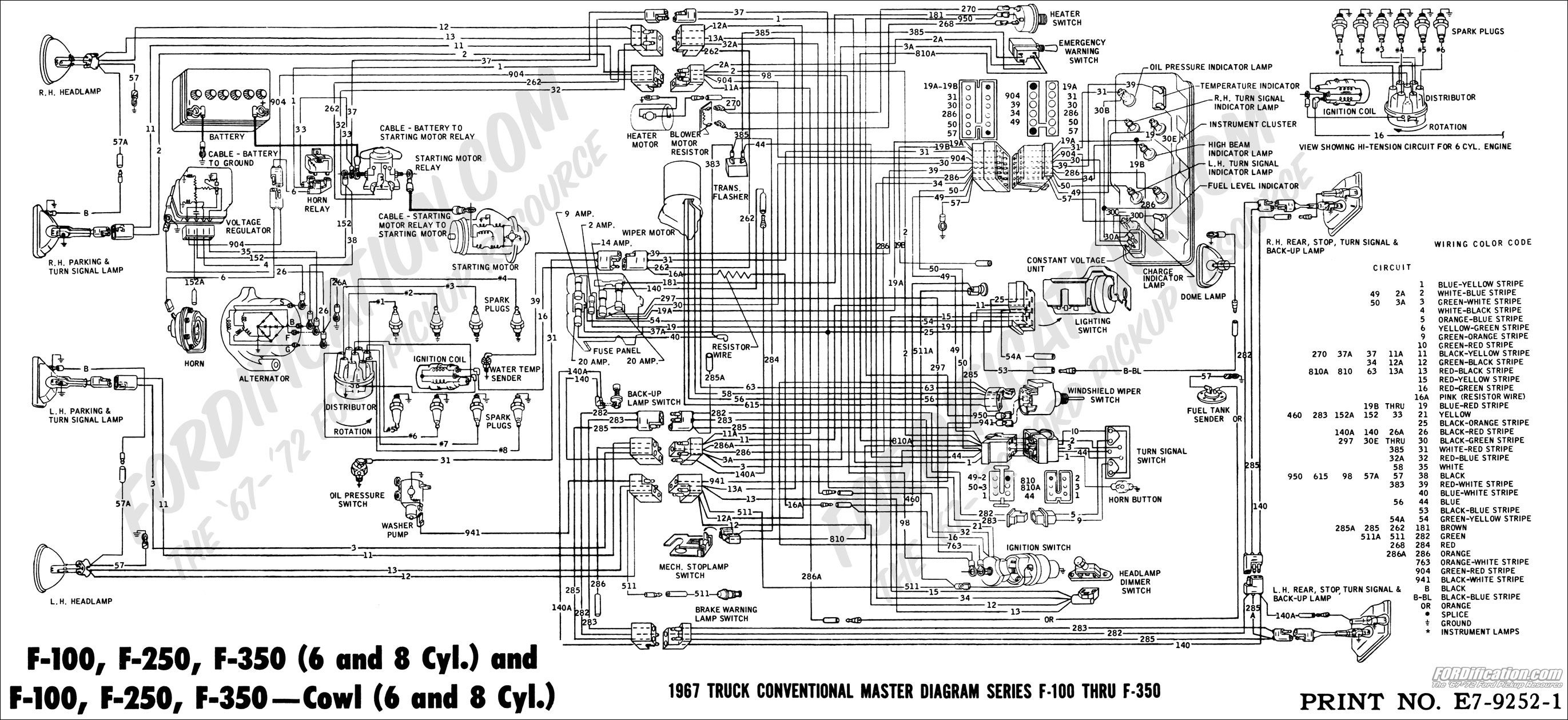 67masterdiagram basic headlight wiring diagram ford wiring diagram simonand Chevy Headlight Switch Wiring Diagram at aneh.co