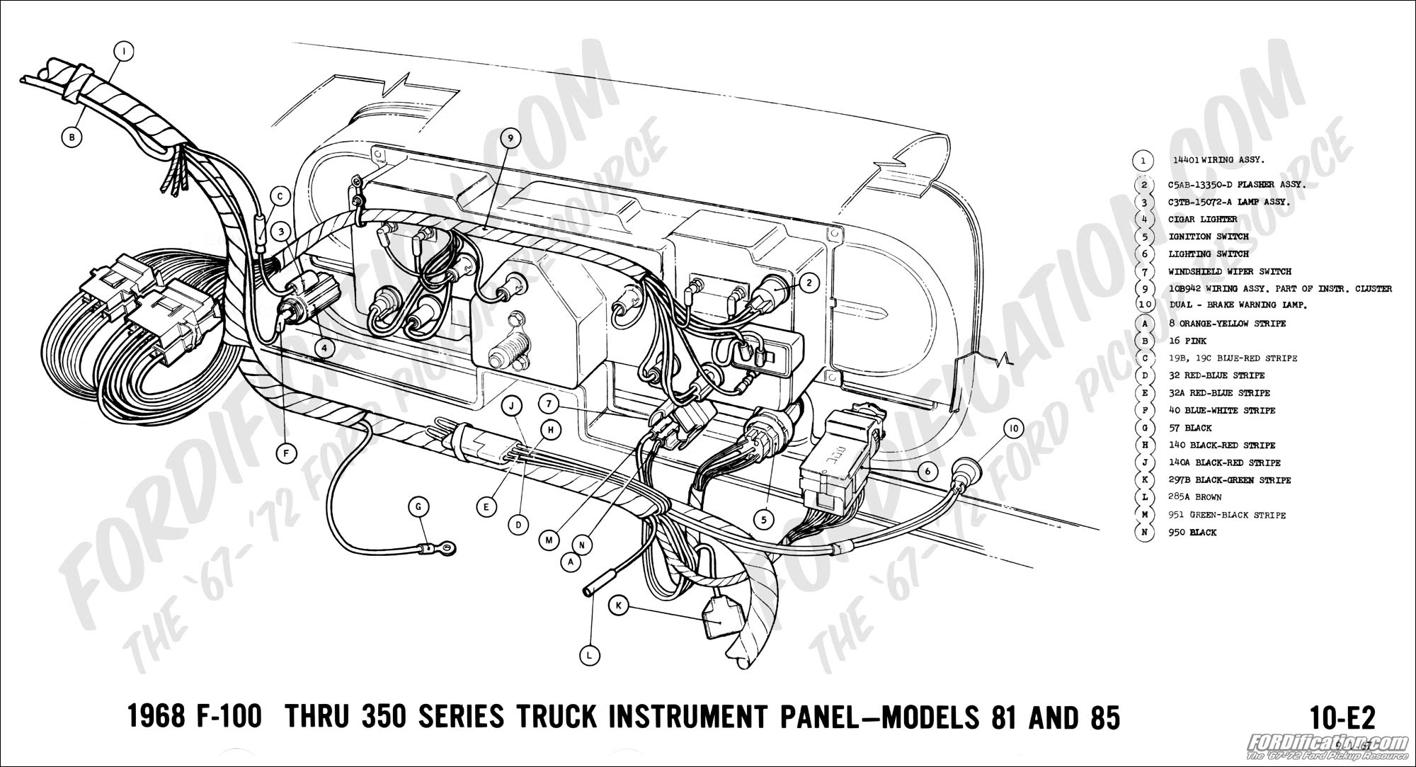 1967 ford f250 wiring diagram ford truck technical drawings and schematics - section h - wiring diagrams 1967 ford mustang wiring diagram