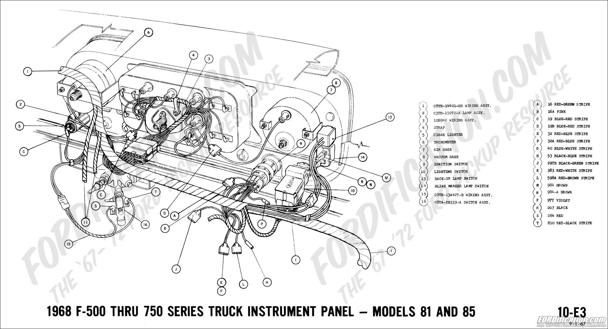 1968 Ford Truck Turn Signal Wiring Diagram Auto Electrical 1958 Corvette Dash 1972 Diagrams Fordification