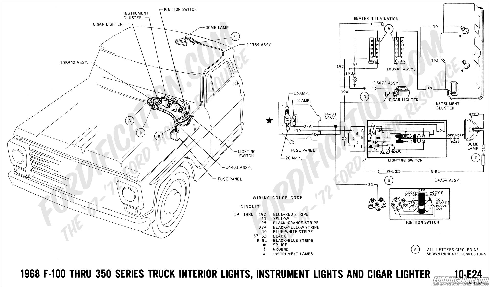 1968 ford f 250 camper special wiring diagram 78 ford f 250 steering column wiring diagram ford truck technical drawings and schematics - section h ... #9