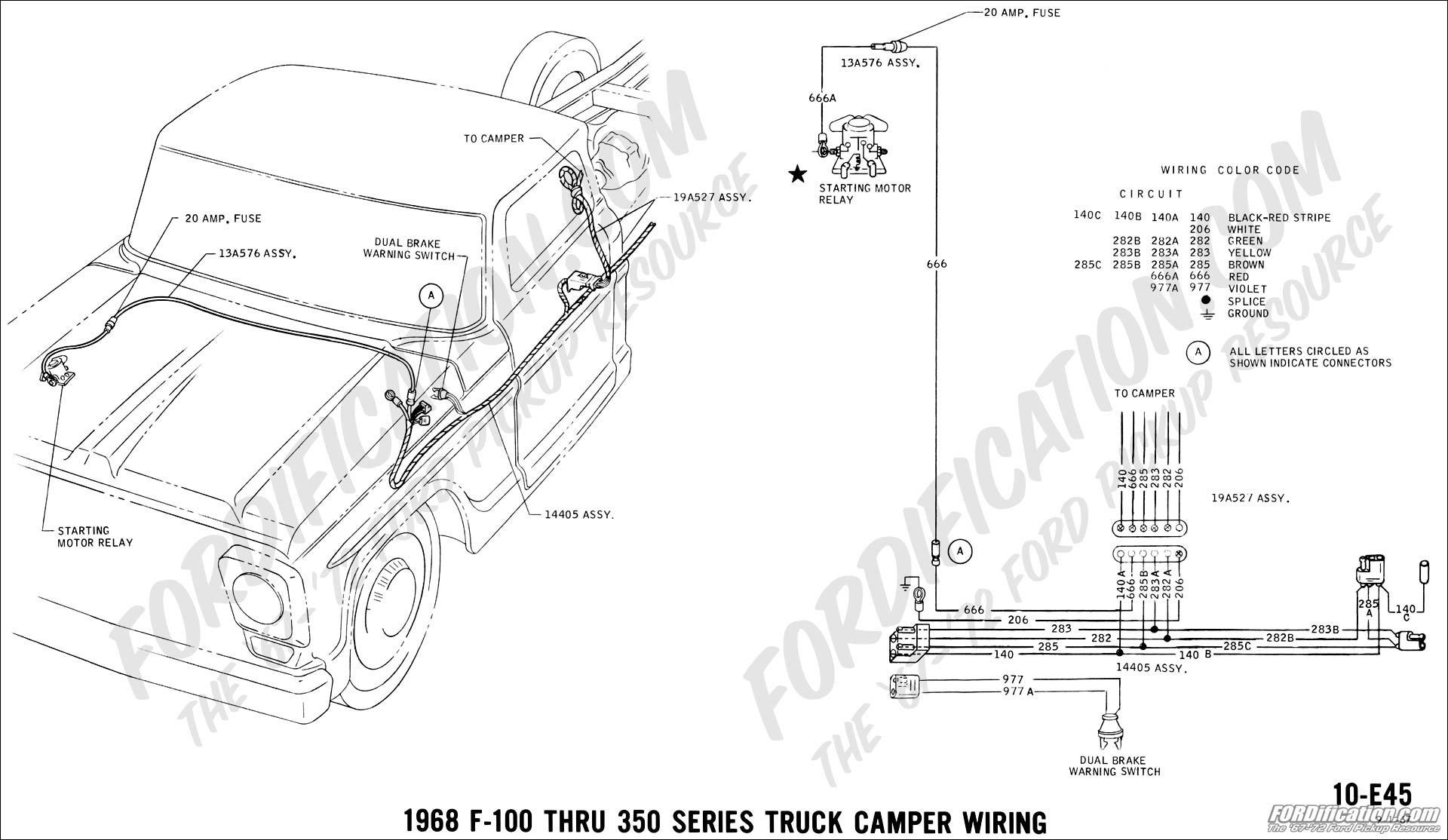 ford truck technical drawings and schematics - section h ... 1968 ford f 250 camper special wiring diagram