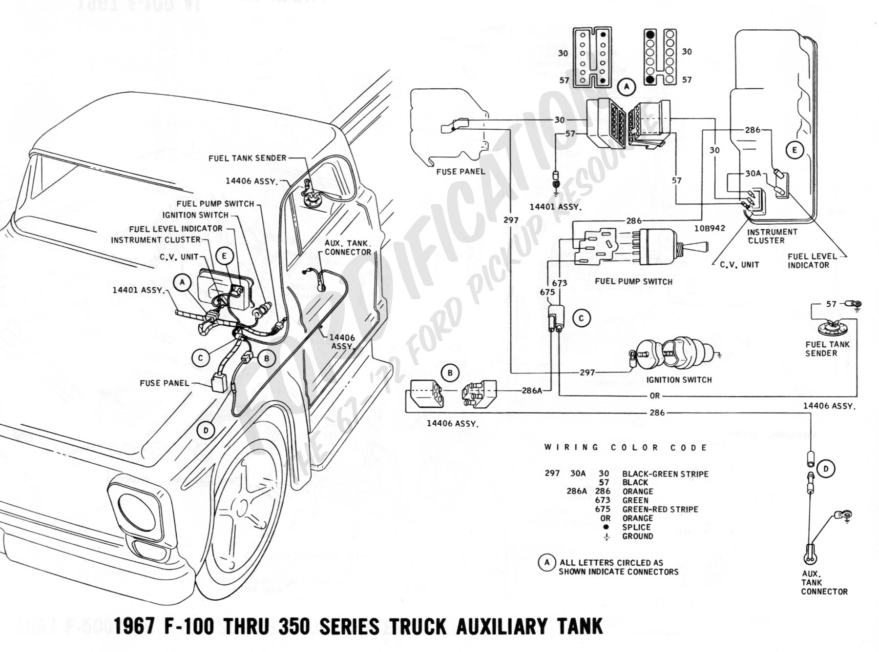 wiring 1967auxtank wiring diagram 1989 f250 fuel switch readingrat net Wiring Diagram for 1965 Chevy Truck at honlapkeszites.co