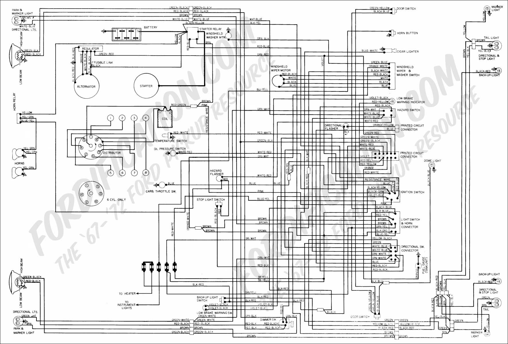 1967 ford fairlane wiring diagram ford truck technical drawings and schematics - section h - wiring diagrams