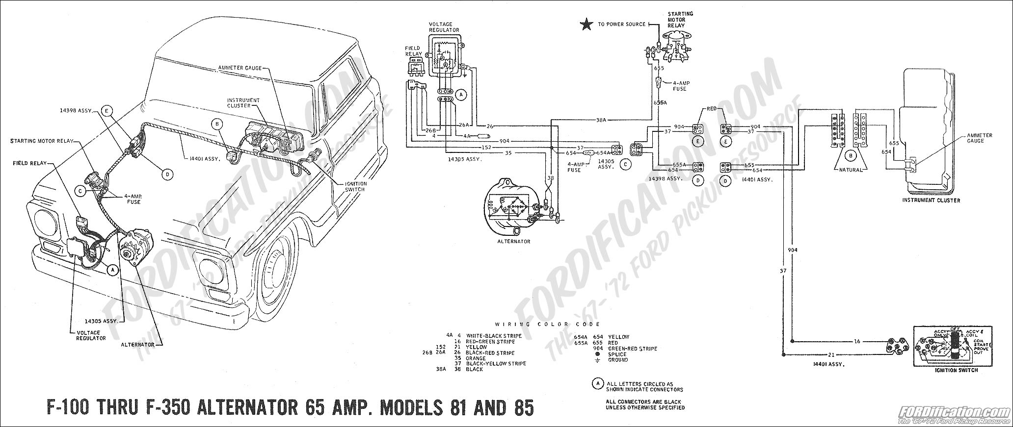 1988 Ford F 150 Wiring Diagram Moreover 1978 on 78 ford bronco alternator wiring