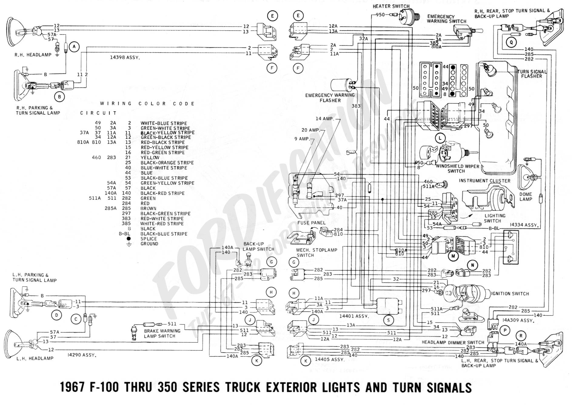 wiring 1967extlights02 1990 f700 wiring diagram dodge ram alternator wiring diagram 1984 ford f700 wiring diagram at edmiracle.co