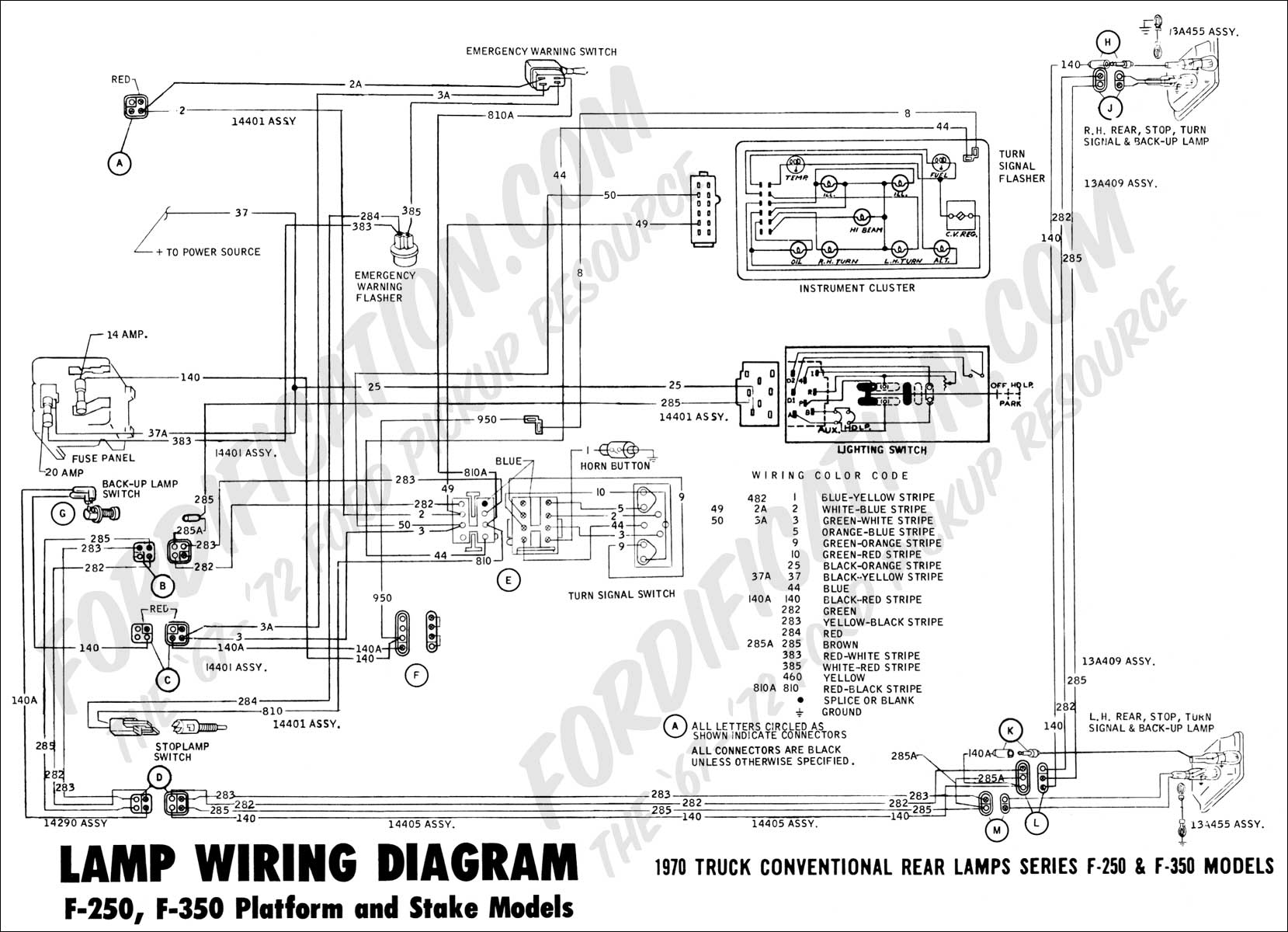 1970 Ford F 250 Wiring Diagram Free For You Plug Truck Technical Drawings And Schematics Section H 1992 1987